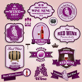 Vintage frame wine label set — Stock Vector