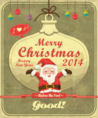 Vintage christmas poster design — Stock Vector