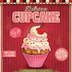 Vintage cupcake poster design — Stock Vector #36652681