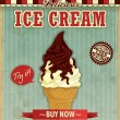 Vintage icecream poster design — Stock Vector