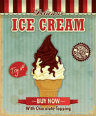 Vintage icecream posterontwerp — Stockvector