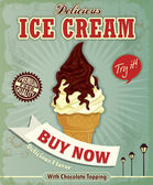 Vintage Ice cream poster design — Stock Vector