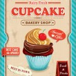 Vintage cupcake poster design — Stock Vector #38938515