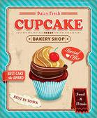 Vintage cupcake affisch design — Stockvektor