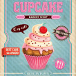 Vintage cupcake poster design — Stock Vector #39350551