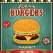 Stock Vector: Vintage burger poster design