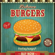 Vintage burger poster design — Stock Vector #39739607
