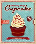 Design de cartaz vintage cupcake — Vetorial Stock