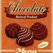 Stock Vector: Vintage chocolate poster design