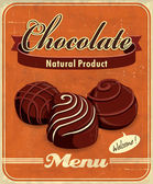 Vintage chocolate poster design — Vecteur