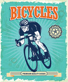 Vintage Bicycle poster design — Vecteur