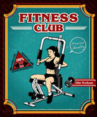 Vintage Fitness Gym poster design — Stock Vector