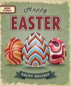 Vintage Easter poster design — Stock Vector