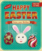 Vintage easter poster design — Stock Vector