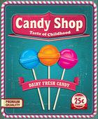 Vintage Lollipop poster design — Stock Vector