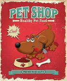 Vintage Pet Shop poster design — Stock Vector