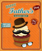 Vintage Father's day cupcake poster design — Stock Vector