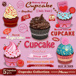 Vintage Cupcake poster set design — Stock Vector #49922345