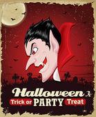 Vintage Halloween poster set design — Stock Vector