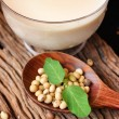 Soy milk — Stock Photo