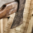 Old axe. — Stock Photo