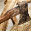Stock Photo: Old axe.