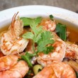 Prawn and lemon soup — Stock Photo