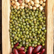 Stock Photo: Gram green soy beand azuki bean