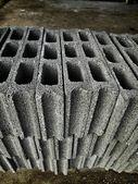 Gray brick for construction — Stockfoto