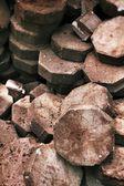 Gray brick for construction — Foto de Stock