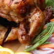 Whole roasted chicken with fresh vegetables — Stock Photo #35084201