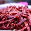 Dried chillies are many red pigments — Stock Photo