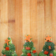 Christmas tree of bread broccoli and tomatoes — Stock Photo