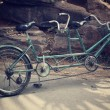 Stock Photo: Retro tandem bicycle