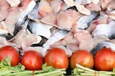 Fillet of fresh fish — Stock Photo