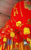Chinese lanterns during — Stock Photo