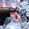 Stock Photo: Red wine on ice