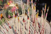 Incense sticks burning and in an altar — 图库照片
