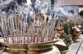 Incense sticks burning and in an altar — ストック写真