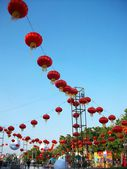 Chinese lanterns during — Stock Photo
