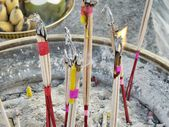 Incense sticks burning in an altar — 图库照片