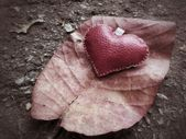 Leather heart — Stock Photo