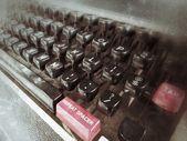 A máquina de escrever antiga chaves — Foto Stock