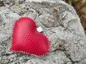 皮革的心 — 图库照片