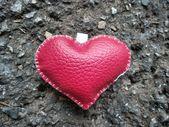Coração de couro — Fotografia Stock