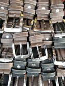 Black and brown leather belt — Stock Photo