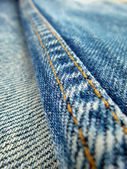 Vintage jeans with seams background — Stock fotografie