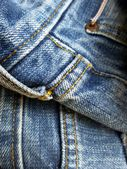 Vintage jeans with seams background — Stock Photo