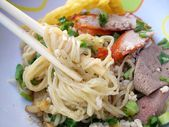 Fried chinese noodles — Stock Photo