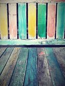 Vintage colorful wood background — Stock Photo